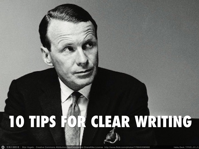 10 Tips For Clear Writing