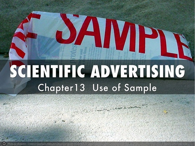 SCIENTIFIC ADVERTISING cp12 Use of Sample