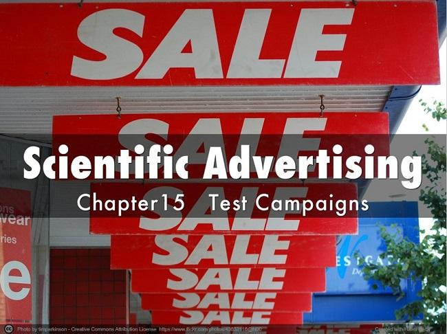 Scientific Advertising Test Campaigns